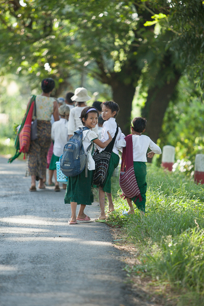 Myanmar school girls.